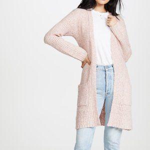 BB Dakota Belting Point Cardigan Pink Large Long